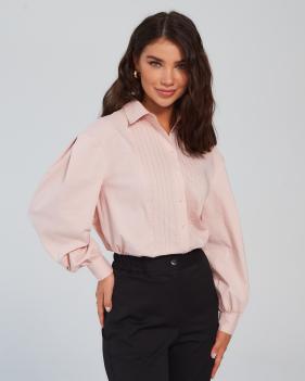 Рубашка LOREN из хлопка (розовое облоко)