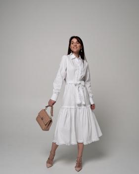 """Платье  рубашка """"TORRI"""" (белое)"""